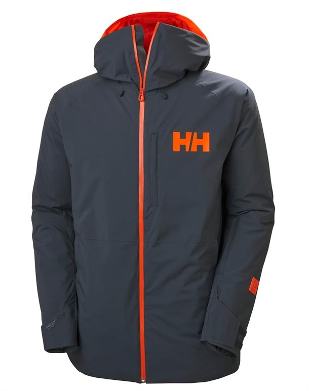 Helly Hansen Powderface  Skijakker Grå-Orange Herre 1