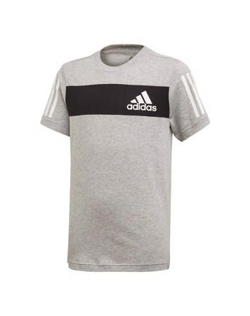 Adidas YB SID TEE T-shirt Grå-Sort Drenge 1