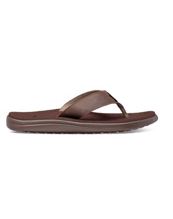 TEVA Voya Flip Leather Sandaler Brun Herre 1