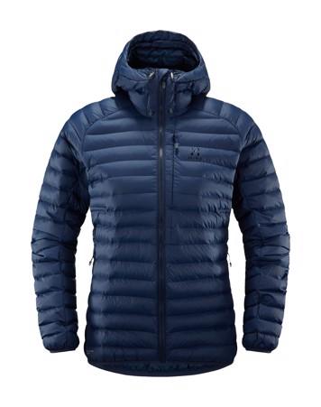 Haglöfs Essens Mimic Hood vinterjakke Mørkeblå Dame 1