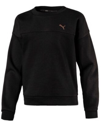 Puma sweatshirt Crew sweat pige sort-kobber børn