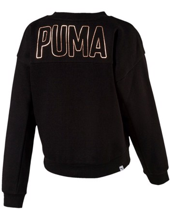Puma sweatshirt Crew sweat pige sort-kobber børn 2