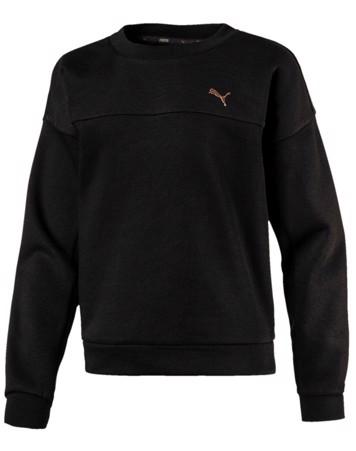 Puma sweatshirt Crew sweat pige sort-kobber børn 1