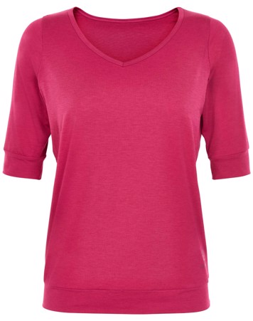 Carite T-shirt Beverly Elbow Sleeves Tee Pink Dame 1