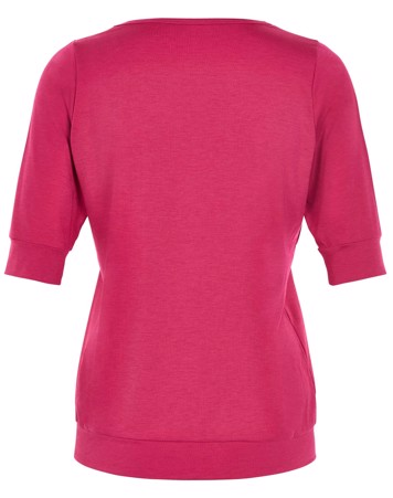 Carite T-shirt Beverly Elbow Sleeves Tee Pink Dame 2