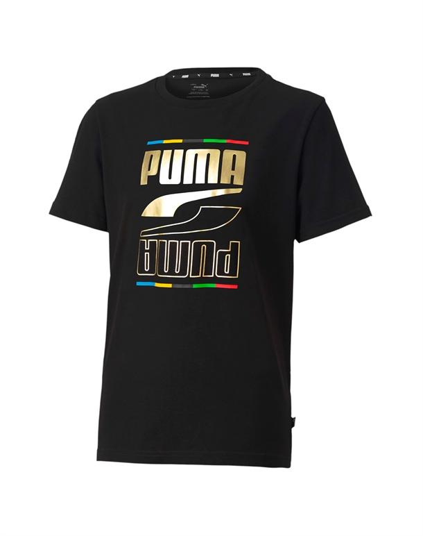 Puma Rebel 5 Continents T-shirt Sort Børn 1