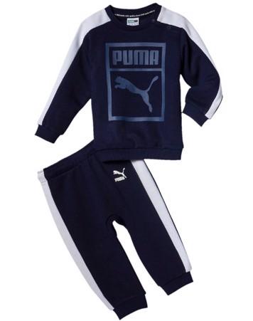 Puma Børnejoggingdragt Classics T7 Jogger TR Navy-Hvid Dreng 1
