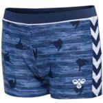 Hummel Badebukser Joss Swim Trunks Navy med mønster Dreng