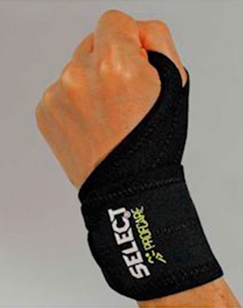 Select Profcare 6702 Håndledsbind Sort Unisex 1