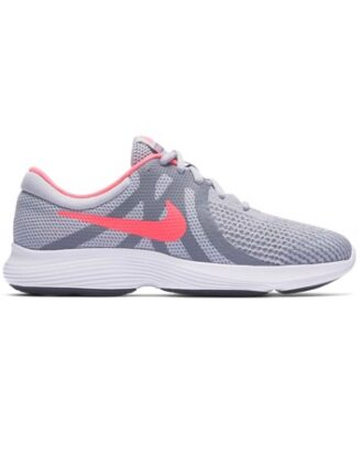 Nike Børnesko Revolution 4 GS Grå-Pink Pige