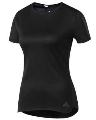 Adidas RS SS løbe t-shirt sort dame
