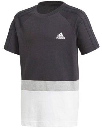 Adidas T-shirt YB Sid Tee FL Sort-Hvid-Grå Dreng