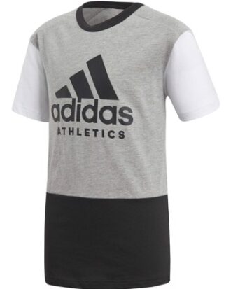 Adidas T-shirt YB SID Tee Grå-Sort Børn