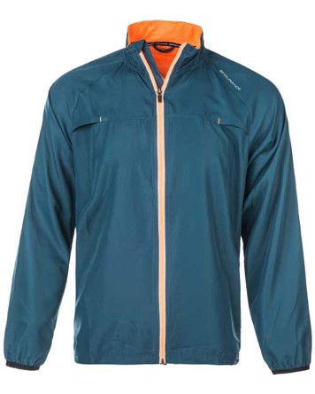 Endudrance Løbejakke Clevedon M Running Jacket Blå-Orange Herre 1