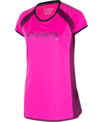 Badminton t-shirt FZ Forza Tiley pink dame