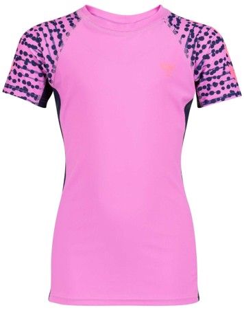Hummel bade t-shirt Zap pink sunprotect +50 pige 1