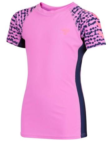 Hummel bade t-shirt Zap pink sunprotect +50 pige 2