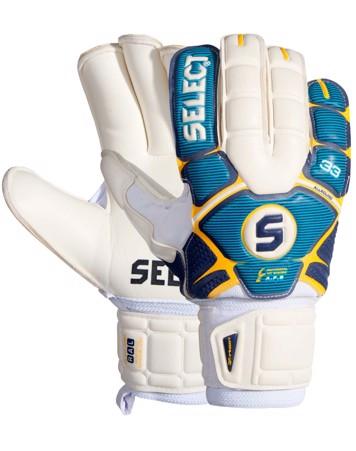 Select 33Allround Målmandshandske Hvid/blå/gul 1