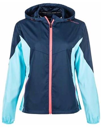 Endurance Løbejakke Augustine W Running Jacket Blå Dame 1