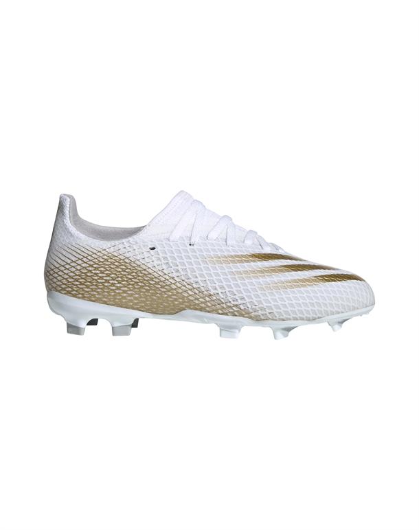 Adidas X Ghosted.3 FG Fodboldstøvler Hvid-Guld Børn 1