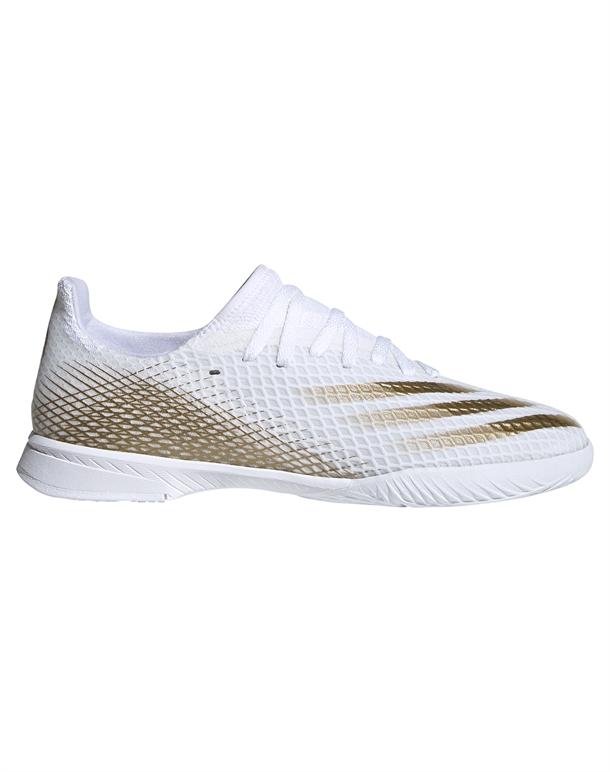 Adidas X Ghosted 3 Indendørs fodboldsko Hvid-Guld Børn 1