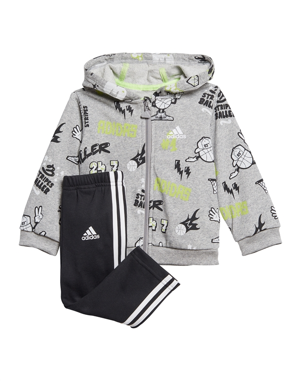 Adidas I Grap FZ HD FT Babyjogger Grå-Sort Børn 1