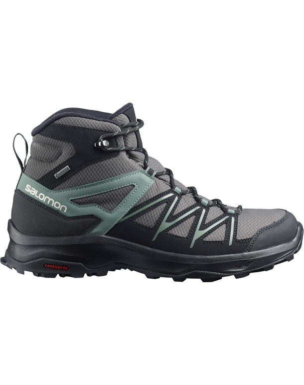 Salomon Daintree Mid GTX Vandrestøvler Grå-Grøn-Sort Herre 1
