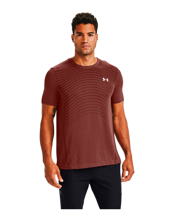 Under Armour Seamless Wave SS T-shirts China Red Herre 1