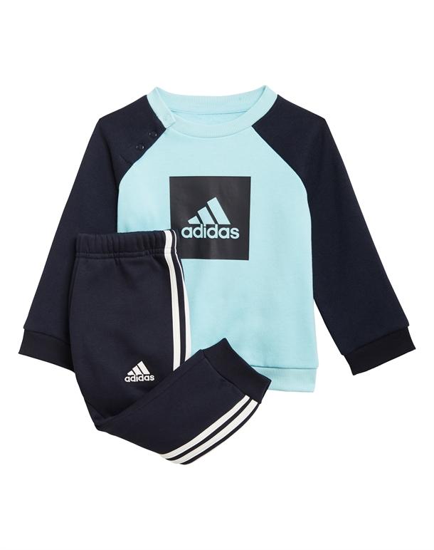 Adidas I 3SLOGO JOG FL Babyjogger Turkis-Navy Drenge 1
