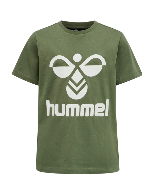 Hummel Tres T-shirt Støvgrøn Børn 1