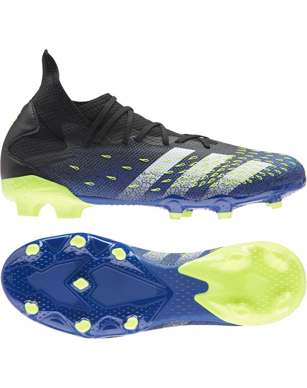 Adidas Predator Freak .3 FG Fodboldstøvler Blå-Sort-Gul Herre 1