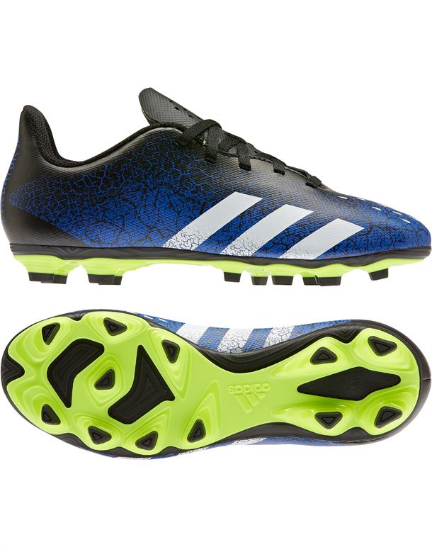 Adidas Predator Freak .4 FxG Fodboldstøvler Blå-Sort-Gul Børn 1