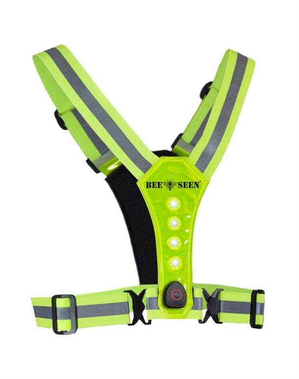 Bee Sport Led Harness Reflexvest Gul Unisex 1