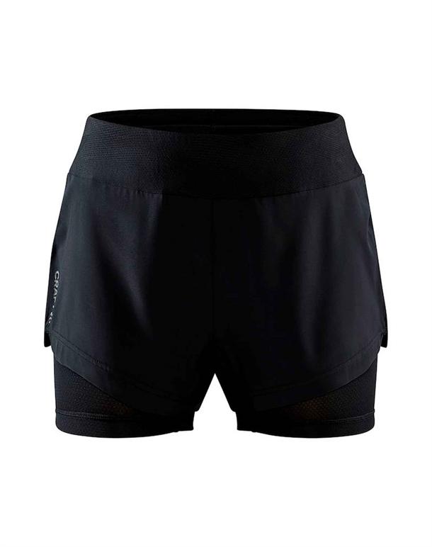 Craft ADV Essence 2-IN-1 Shorts Sort Dame 1